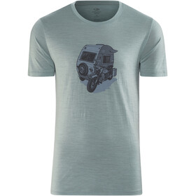 Icebreaker M's Tech Lite Camper SS Crewe Shirt vapour